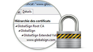 GlobalSign secure SSL padlock
