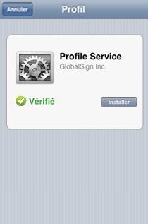 Certificats iOS